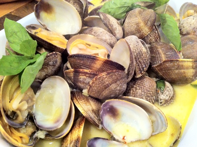 Steamed Manila Clams with Green Curry, Chili, Basil ...