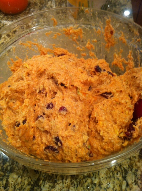 Add mixture to the pulp and stir
