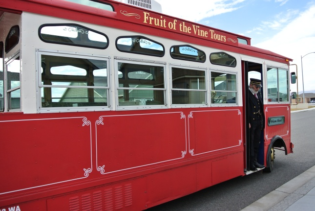 Our transportation...Fruit of the Vine Tours!
