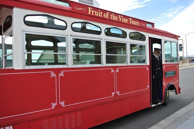 Our transportation...Fruit of the Vine Tours!