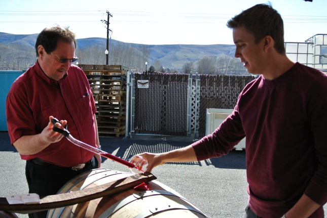 Coyote Canyon barrel tasting