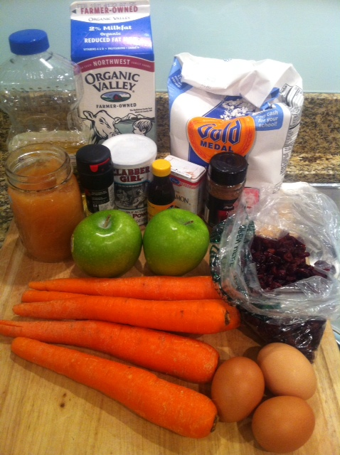 Ingredients for Juice Muffins