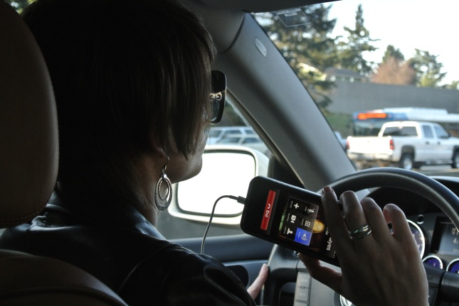 Ash driving and talking (on speaker :)