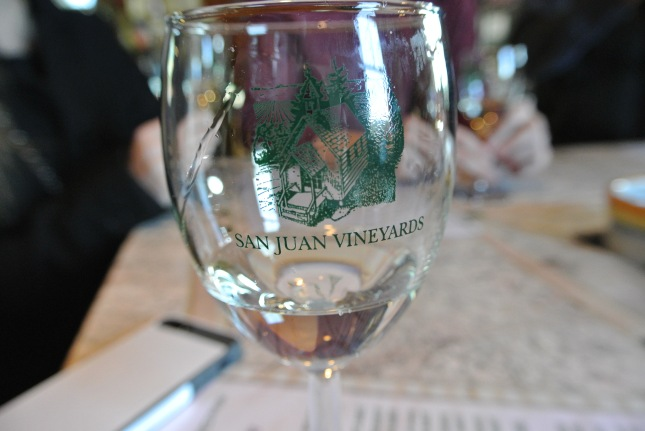 Wine tasting at San Juan Vineyards