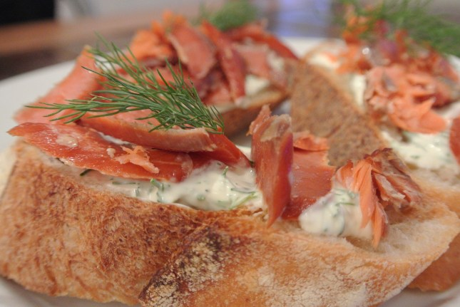 Smoked Salmon Bruschetta. A great appetizer