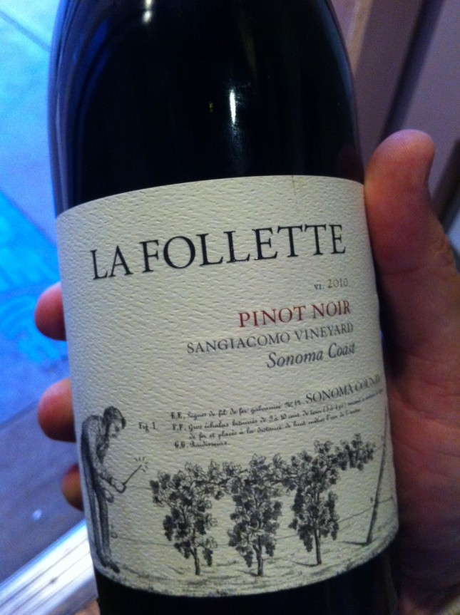 Day 12: 2010 La Follette Pinot Noir Sonoma Coast