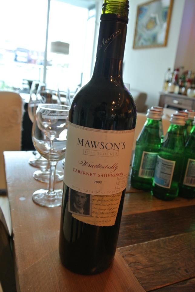 Day 21:  Mawson's Cabernet Sauvignon 2008