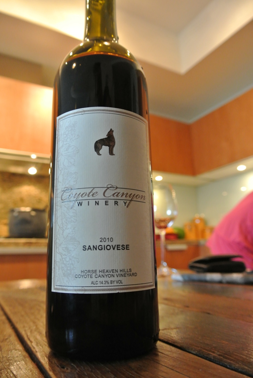 Day 27: Coyote Canyon Winery Sangiovese 2010