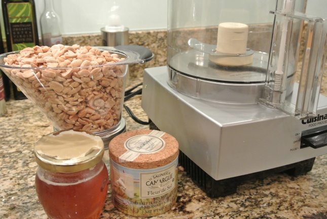 Ingredients for homemade peanut butter
