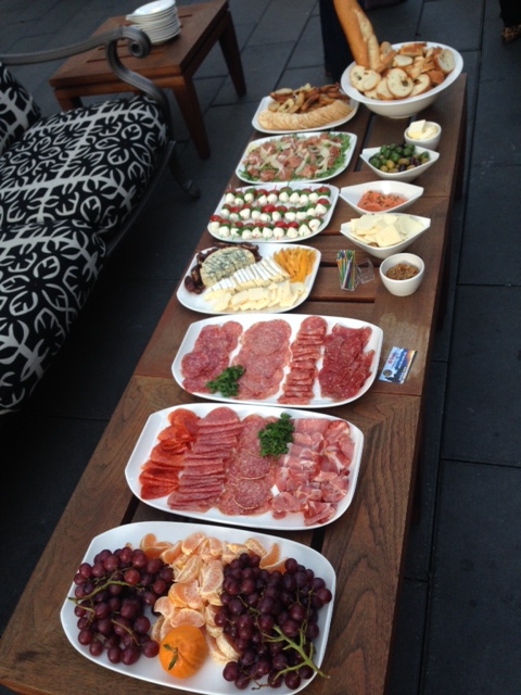 Outdoor wine pairing with Charcuterie spead ;0)
